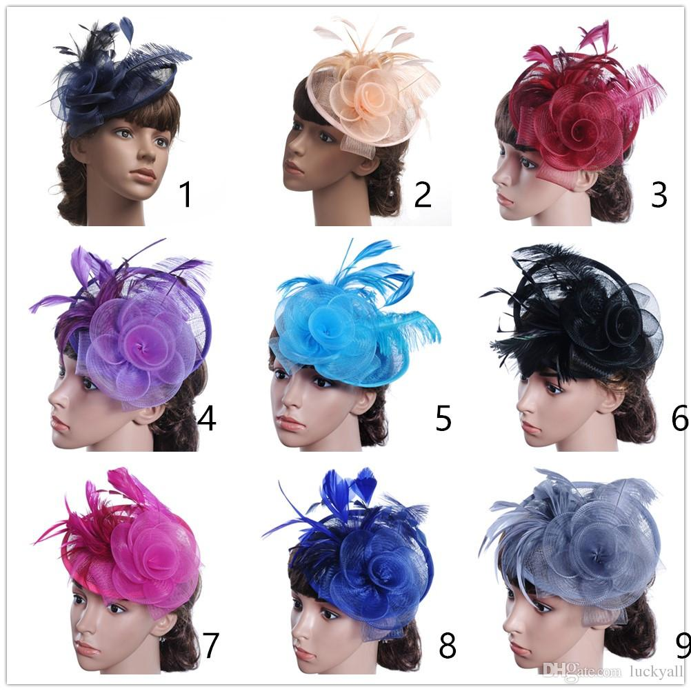 Banquet hats cambric hat hair accessories for women top hats wedding hat with clip, vintage wedding headpiece bow hair headbands for women