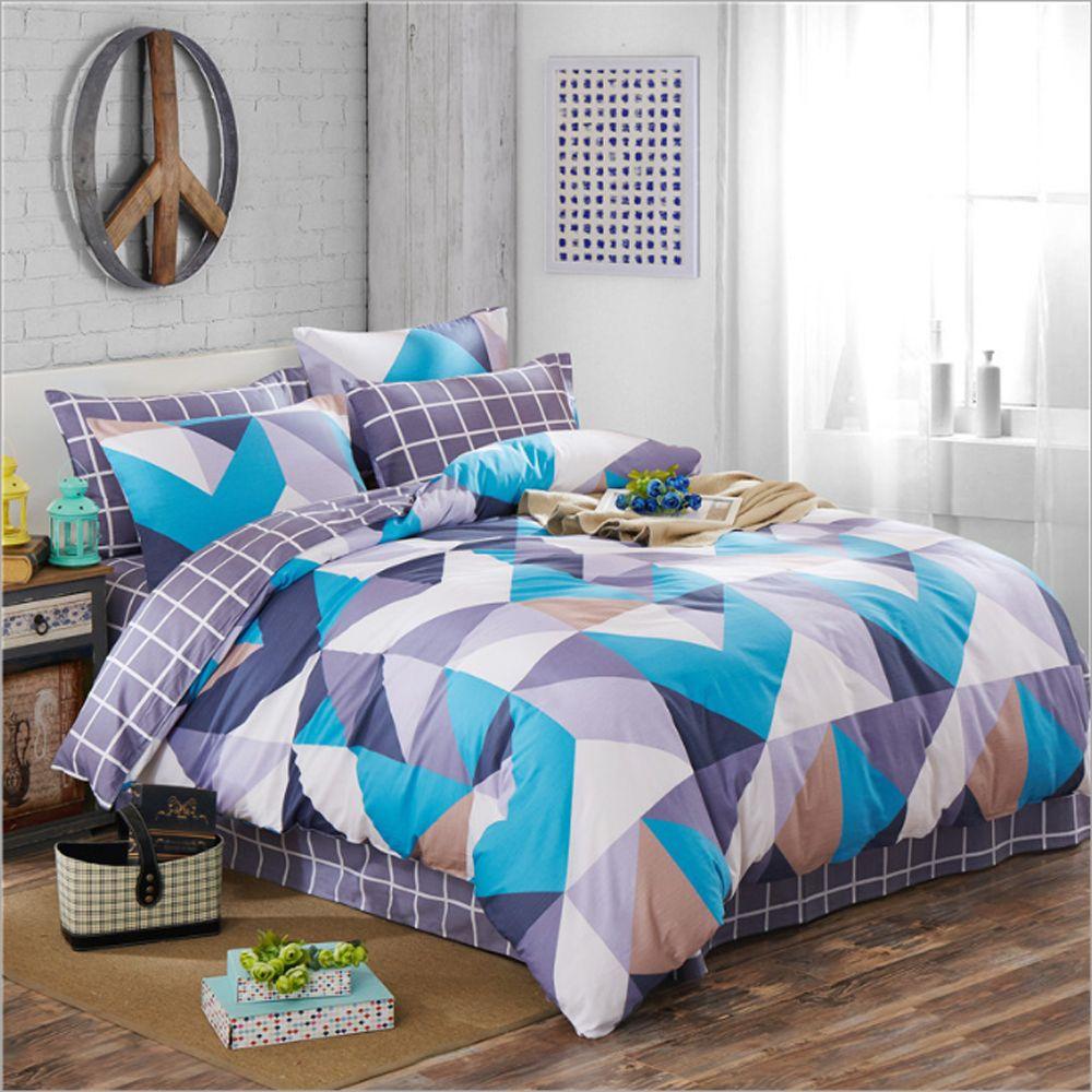 Wholesale 100 Cotton Stripes Plaid Triangle Geometric Pattern Duvet