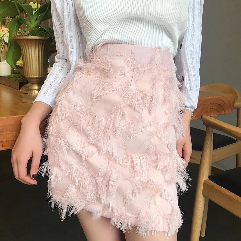 8c0b6bc7b 2019 2018 Vintage Summer Mini Skirts Womens High Waist Feather Skirt Ladies  Casual Plus Size Tassel Skirt Jupe Femme Harajuku Saia From Edward03, ...