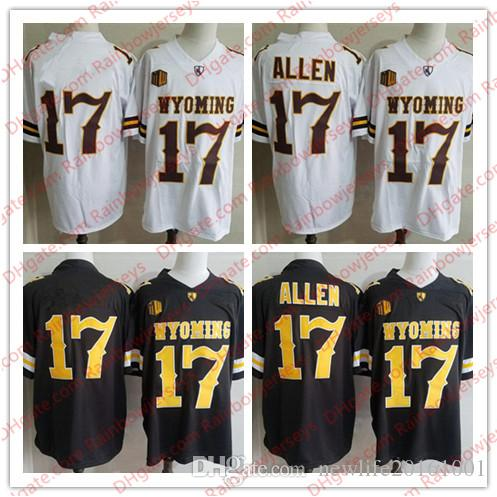 NCAA Wyoming Cowboys #17 Josh Allen Brown White College Football Jerseys  Men Youth Kids Stitched No Name