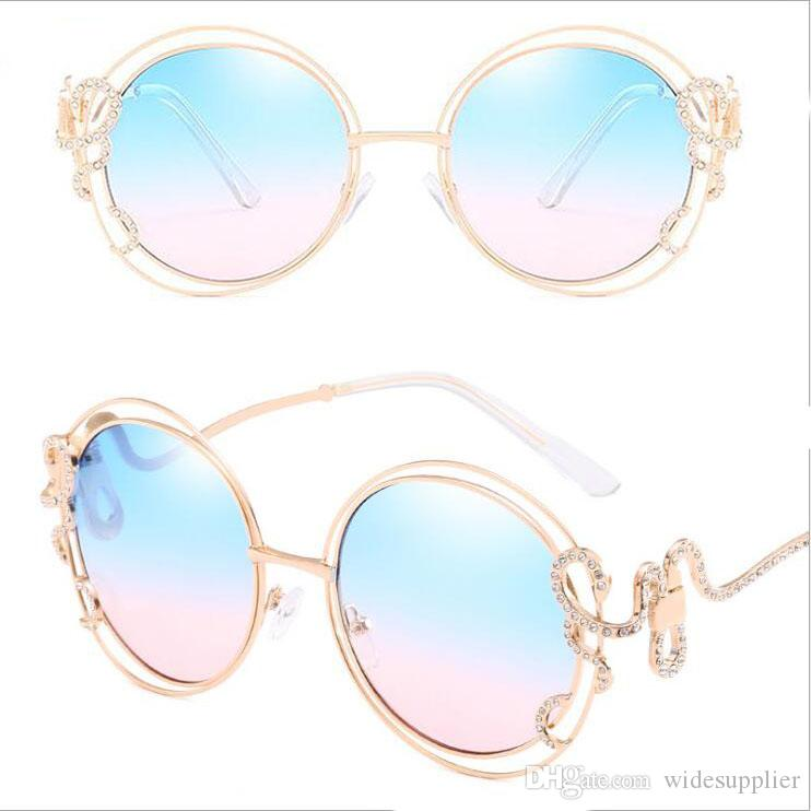 e4e6f5e607 2018 Personality Round Sunglasses Double Circle Hollow Sunglasses ...