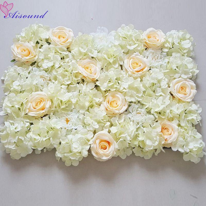 2019 Artificial Silk Flower Panel Wedding Wall Background Lawn