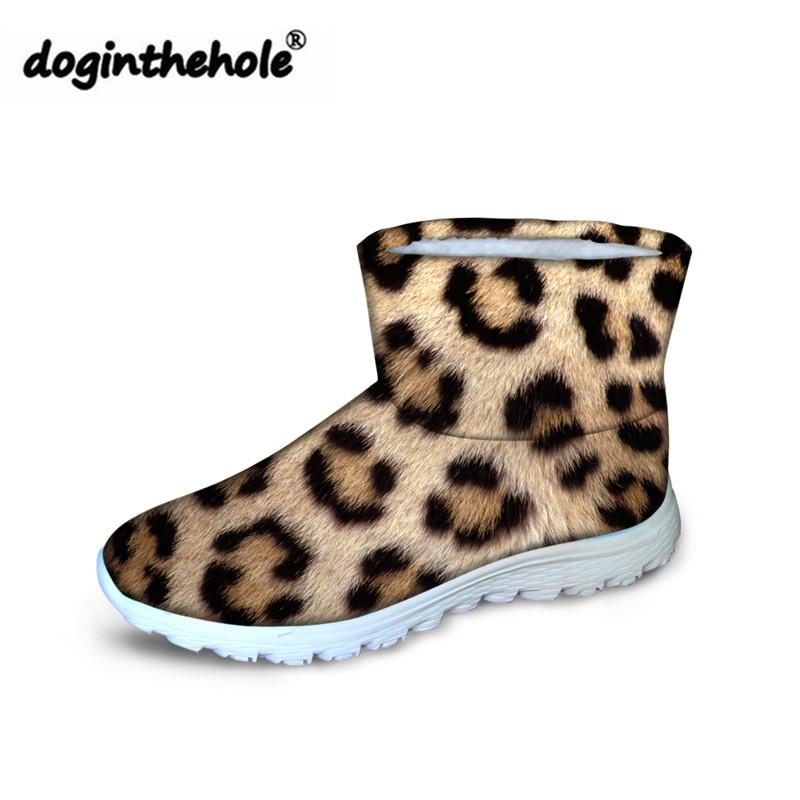53b89f13c86 Doginthehole Boots Women Leopard Printing Slip On Snow Boots For Females  Fashion Ankle Ladies Winter Warm Snow Mujer Chelsea Boots Shoes Online From  Juiccy