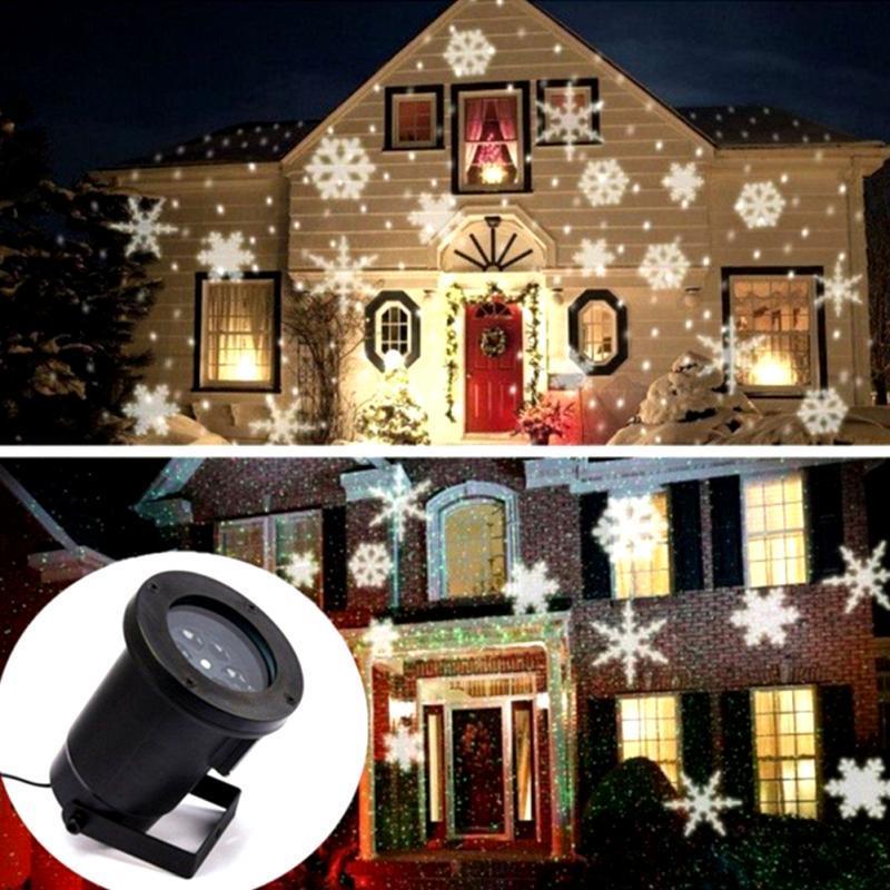 Proiettore Luci Natale Giardino.Luci Led A Fiocco Di Neve Proiettore Di Luci Per Esterni Di Natale Giardino Impermeabile Vacanze Decorazione Dell Albero Di Natale Illuminazione Di