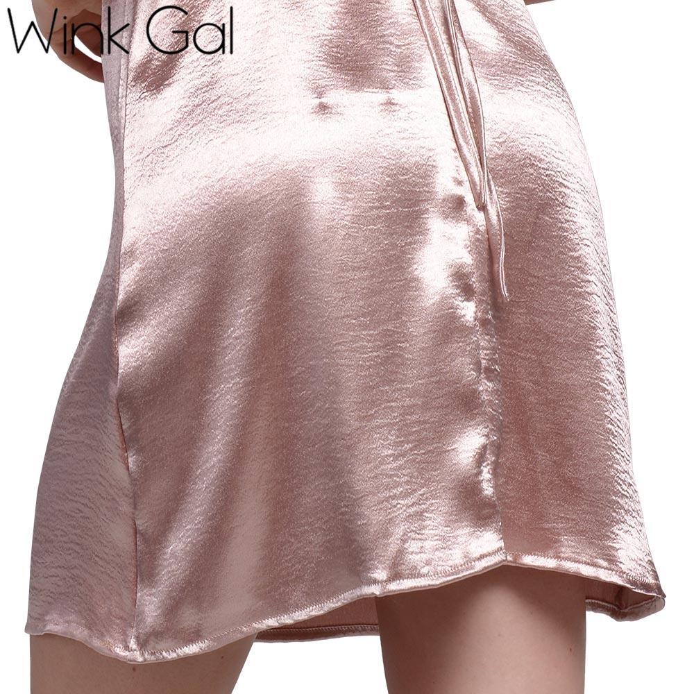 Атлас Зашнуровать Скольжения Платье Шелковые Сексуальные Ночные Рубашки Пижамы Летние Пижамы Спальные Платья Женщин 3257