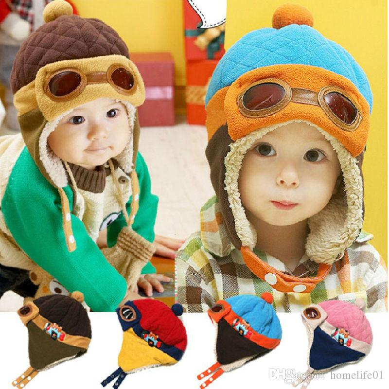 ce963d655db 1-4 Years Baby Earflap Toddler Girl Boy Kids Pilot Aviator Cap Warm ...