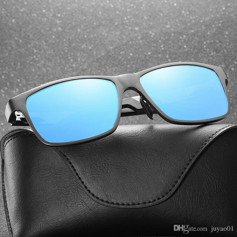 Compre Novos Homens Polarizados Óculos De Sol Clássico De Alumínio E Magnésio  Quadro Óculos Motorista Espelho De Condução Espelho De Pesca MMrrror De ... f16c522dcd