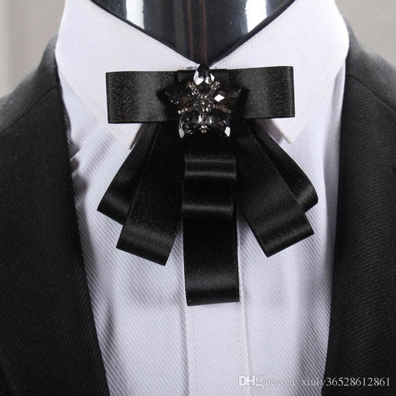 Erkek ipek yay boyun kravat / kırmızı damat düğün dekorasyon / el yapımı kpop moda Yüksek kaliteli takım elbise aksesuarları / broschen / broszka / broszki