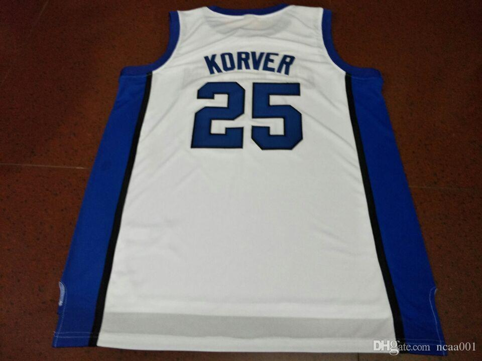 new product 5931b a518d Men #25 Kyle korver Creighton bluejays Universidad College jersey Color  White Size S-4XL or custom any name or number jersey