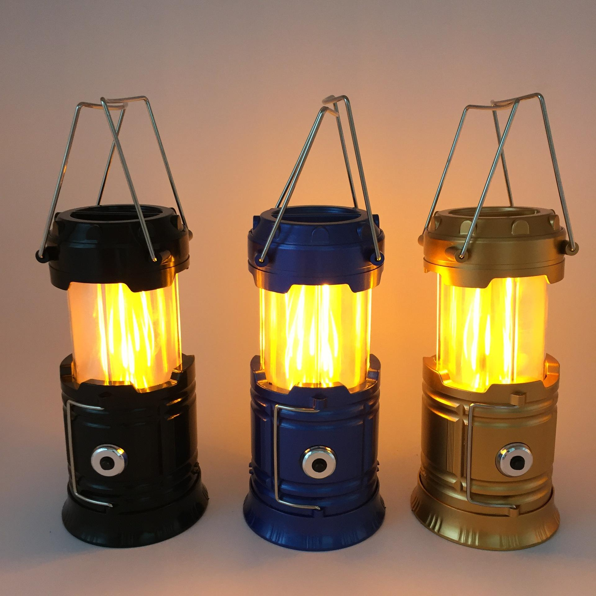 Portable 3 LED Outdoor Camping Battery Operated Lantern Tent Lamp Night Light UK