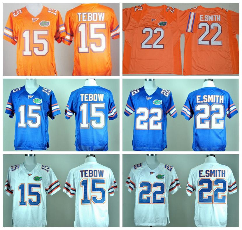 best service 1a33a 98a37 NCAA Florida Gators College 15 Tim Tebow Jersey Men 22 Emmitt Smith 6 Jeff  Driskel Football Jerseys University Embroidery Blue Orange White