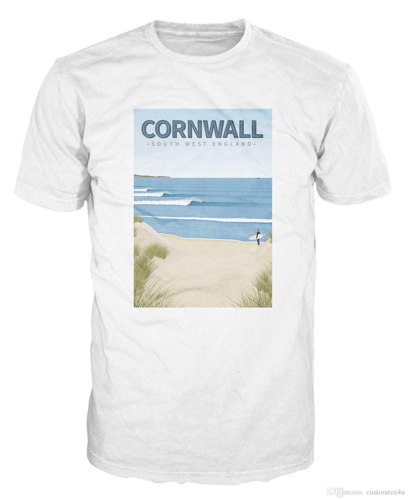 94c631c1a1 Cornwall Surfing Southwest Beach Surf Uk England T Shirt T Shirt For Men  Design Short Sleeve Crewneck Cotton XXXL Team Tee Shirts Humor Shirts  Offensive T ...