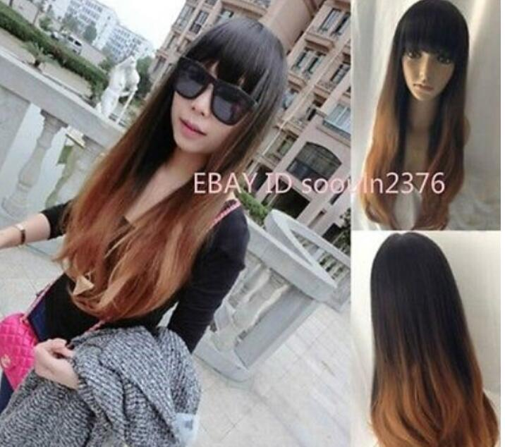 ANew Fashion Women Long Curly Wavy Hair Full Wigs Cosplay Party Wig Brown  Washing Synthetic Wigs Wigs For White Women From Dingyingying8889 017df9479d
