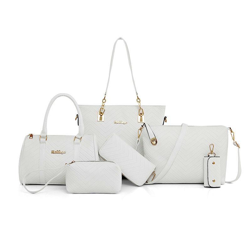 1db3189935d74 Großhandel 2019 Mode Neue Marke Luxus Dame Handtasche 6 Teile   Satz ...