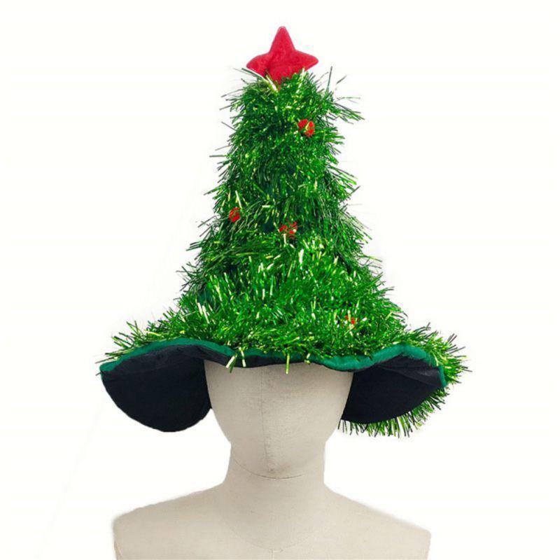 Weihnachtsbaum Rot Silber.Weihnachtsbaum Hüte Mit Stern Rot Silber Grün Weihnachtskappen Weihnachtsdekoration Geschenken Für Erwachsene Kinder