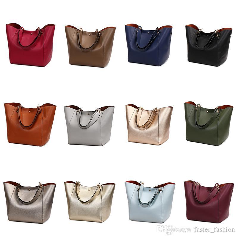 611bec761b2 Handbag Litchi Pattern Large Capacity USA Style Women Handbag Fashion Totes  Soft Leather High Quality Purse Women Bag Drawstring Satchel Shoulder Bags  ...