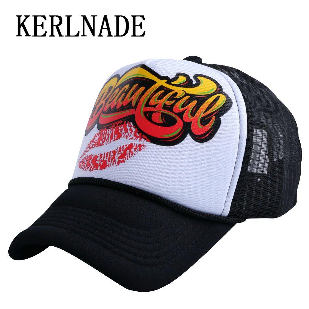 Promotional Character Design Summer Baseball Cap 58 CM Adjustable Mesh Cool Trucker  Style Sports Caps Hats For Women Men Trucker Caps Flat Bill Hats From ... 91d87e14b02