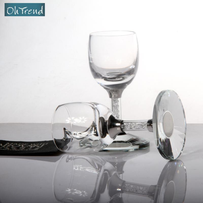 1313 OhTrend Aocheng luxe cristal verre coupe liqueur coupe diamant coffret 6 jambe costume gobelet