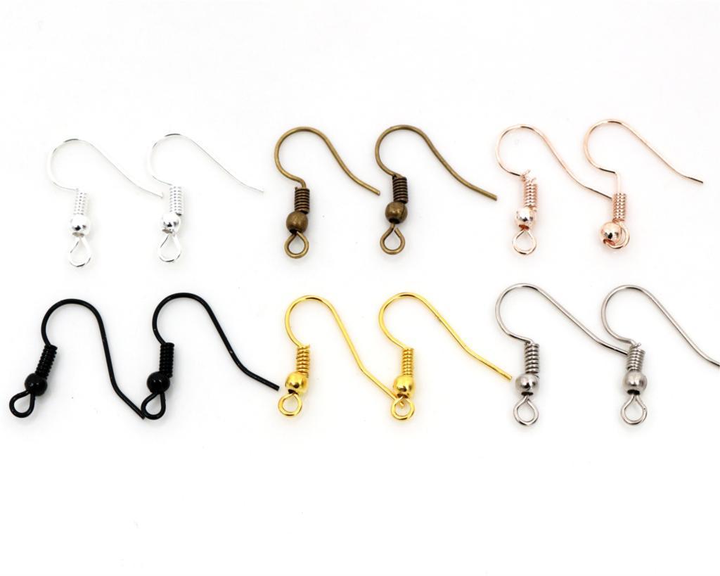 DIY Earring Findings Earrings Clasps Hooks Fittings DIY Jewelry Making Accessories Iron Hook Earwire Jewelry 20x17mm