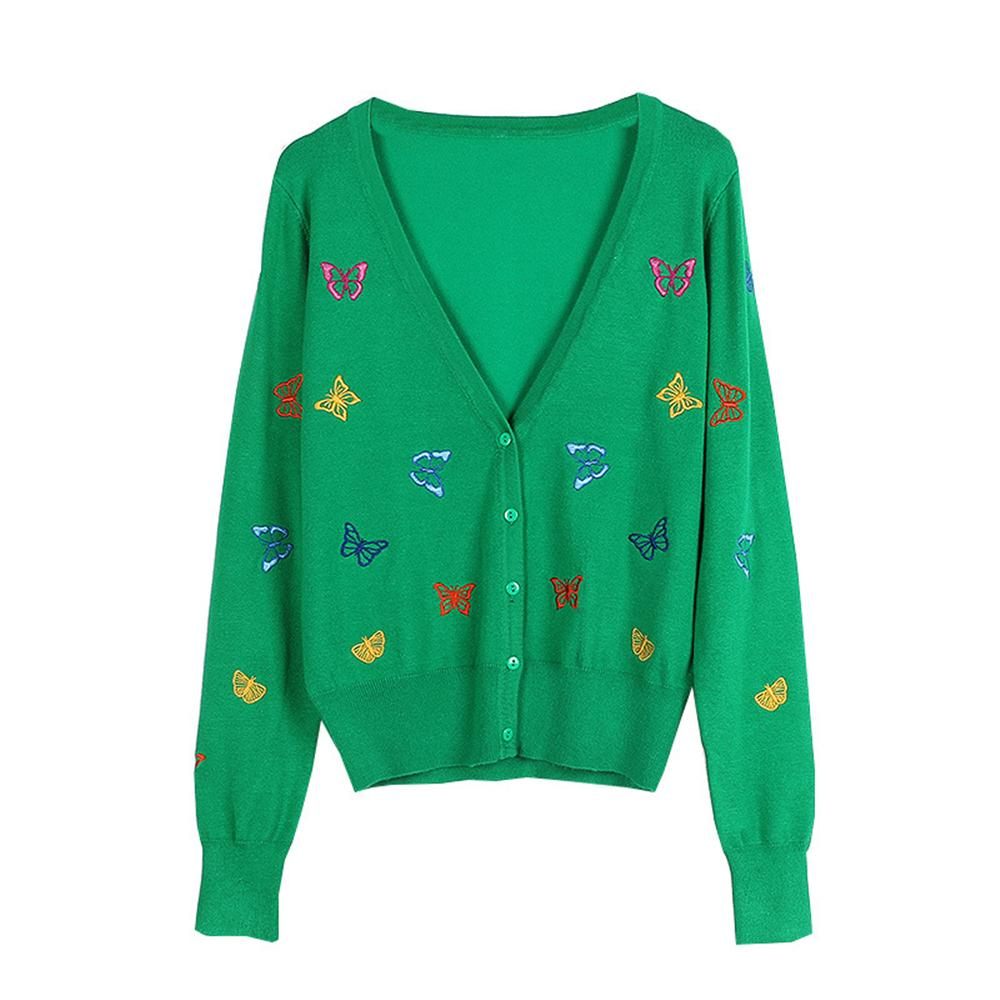 2019 Runway Butterfly Embroidery Cardigan Women Outwear 2018 New Autumn  Shrug Winter Vneck Sweater Coat Knit Top Sweet Animal Jacket From  Modleline 4fca509ca