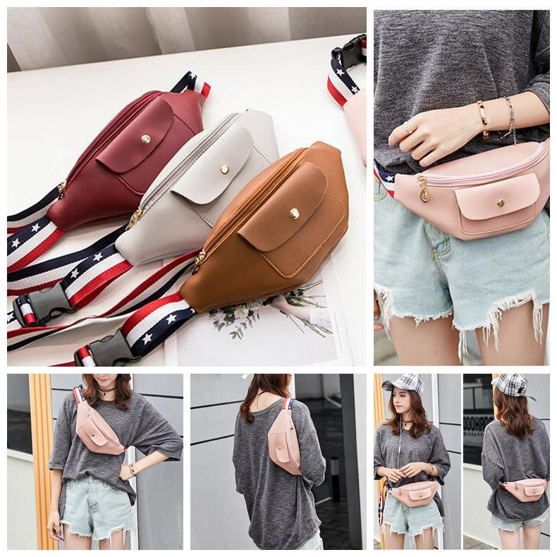 ff67f2436f06 Fashion Women Waist Bag PU Belt Bag Vintage Waist Pouch Fanny Pack Coin  Purse Phone Bags Small Belt Bag KKA5116