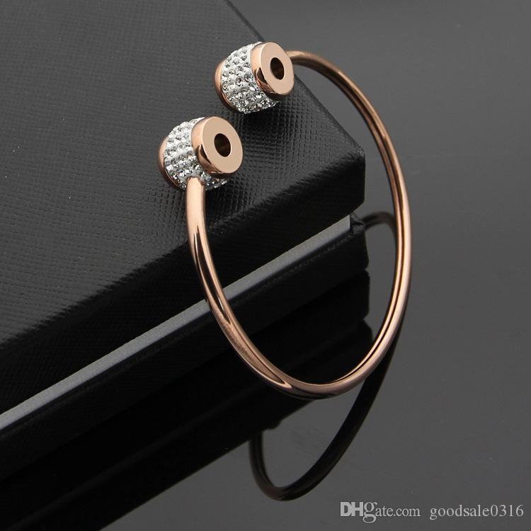Nouveau Printemps et Été 316L Titanium Steel Love Bracelet Argent Bracelet En Or Rose Bracelet Couple Nom Marque Bijoux Cadeau