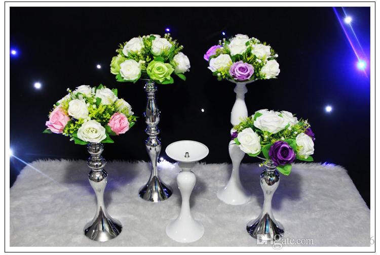 12inch 20inch 43inch height metal candle holder candle stick wedding centerpiece event road lead flower stands rack vase home decoration