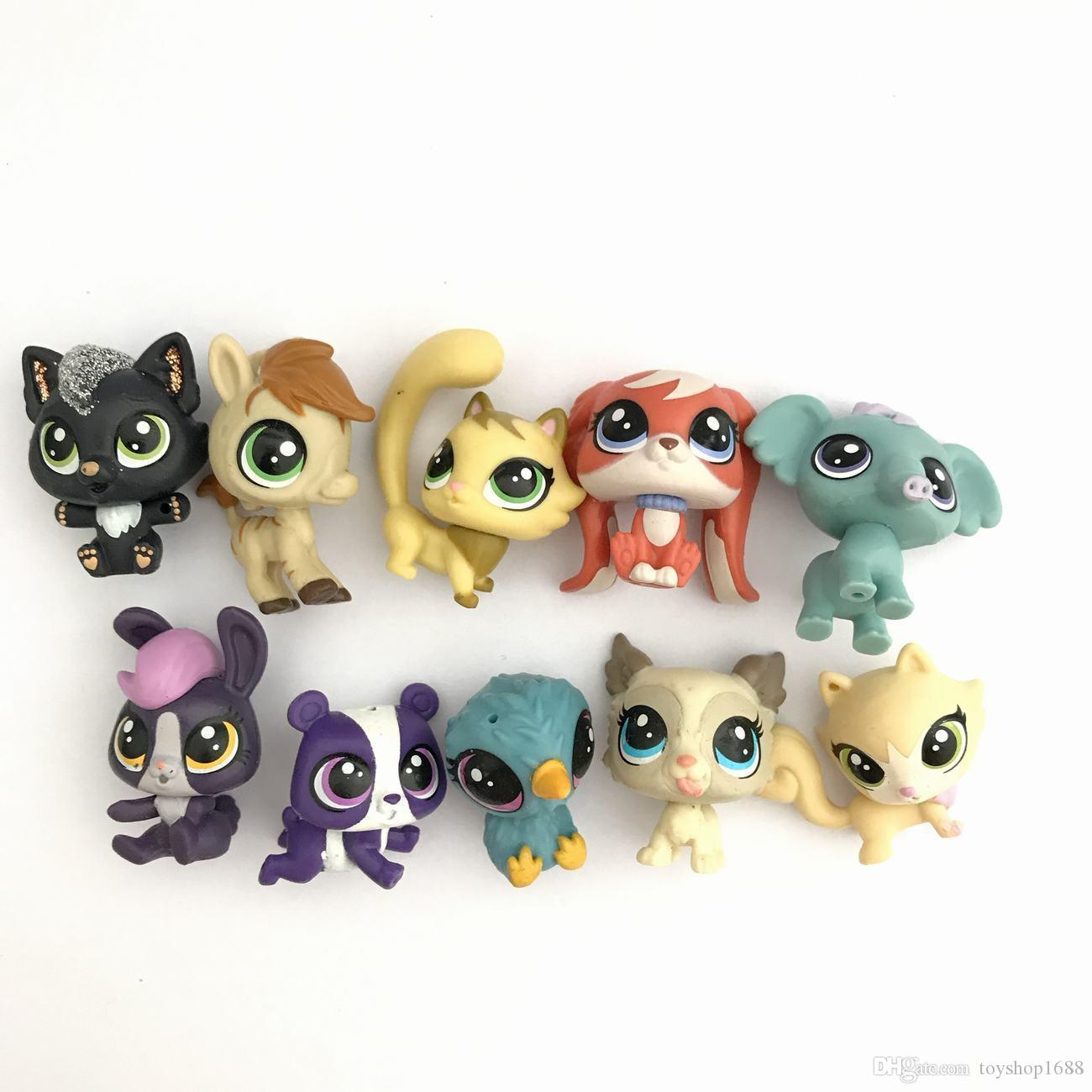Lotmini Littlest Pet Shop Lps Doll Animal Pet Bird Cat Dog Elephant