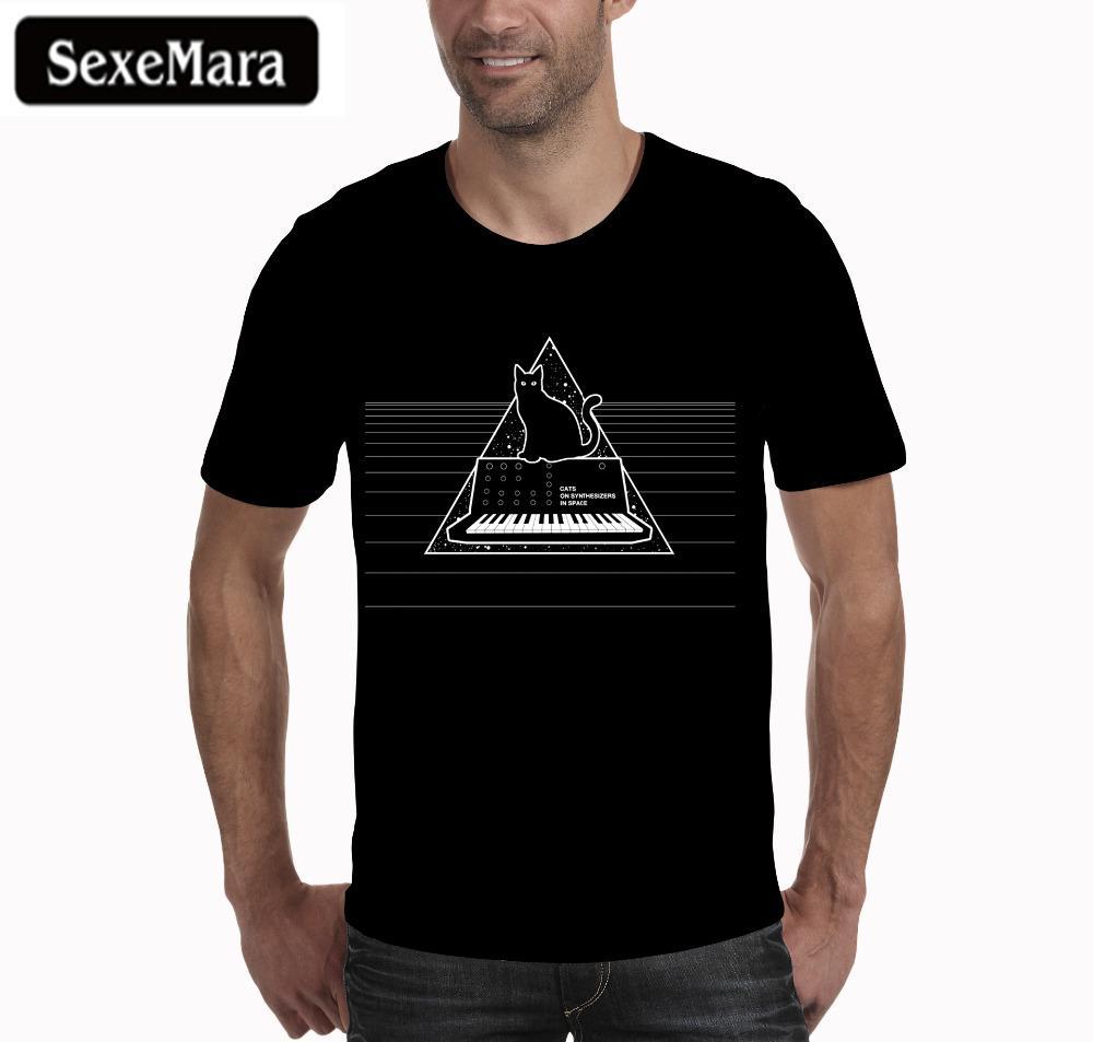Compre Sexemara Camisetas Hombre 2018 Verano Hip Hop Para Triángulo Gato  Estampado De Piano Camiseta Casual Algodón Streetwear Tops Camisetas Hipster  Tee A ... a3ef338caf9
