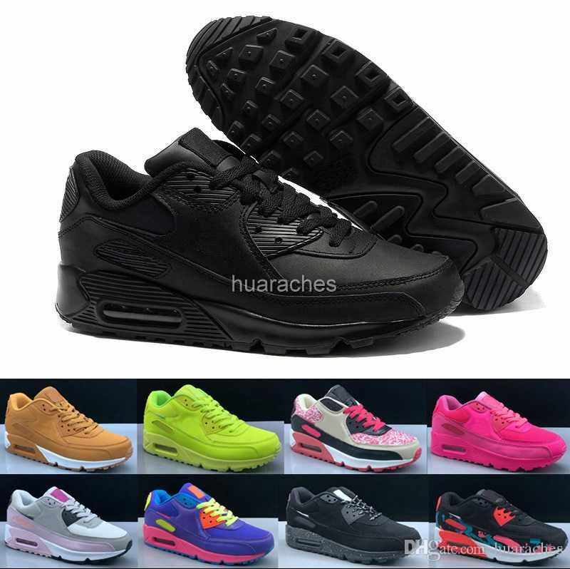 48890cfb86c 2018 New 90 Woman Running Shoes Triple Black Pink White Sneakers Womens  High Quality 90s Trainers Designer Sports Off Brand Chaussures Men Shoes On  Sale ...