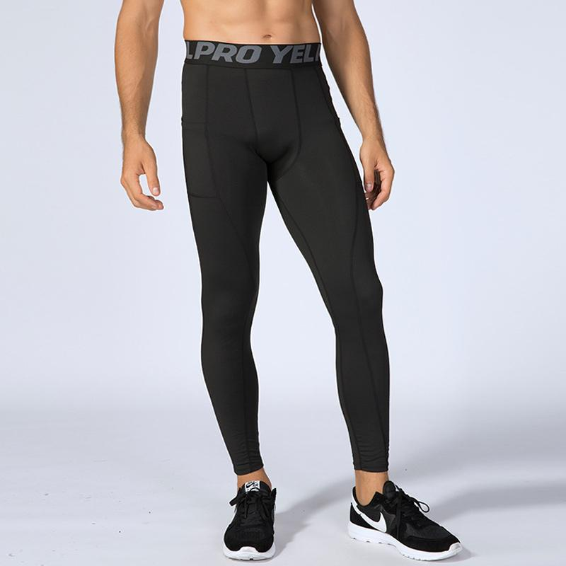 f536dbcba9c3a 2019 Mens Bodybuilding Leggings Pantalones Compression Pants Running Tights  Male Sports Slim Trousers Training Sweatpants Jogging Man From Yiquanwater