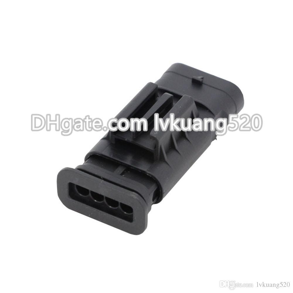4 Pin Waterproof vehicle connector Oxygen sensor plug automotive connector with terminal DJ7042-1.2-11
