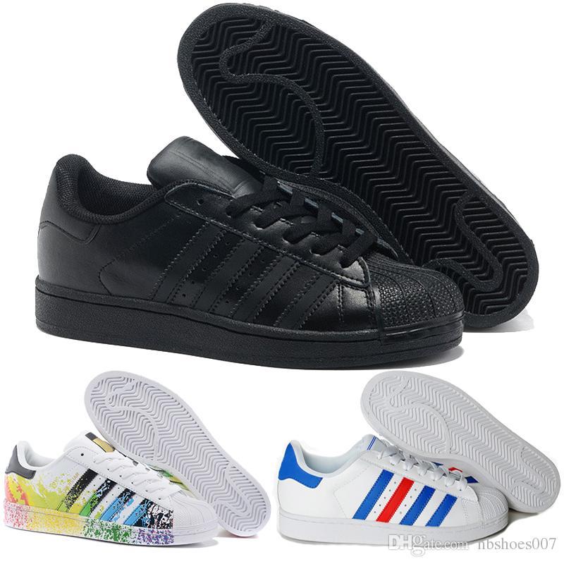Acquista Adidas Scarpe Casual Da Donna Uomo Superstar White Hologram  Iridescent Junior Scarpe Da Ginnastica Superstars 80s Pride Scarpe Da Donna  Super Star ... 0e19de14dd5