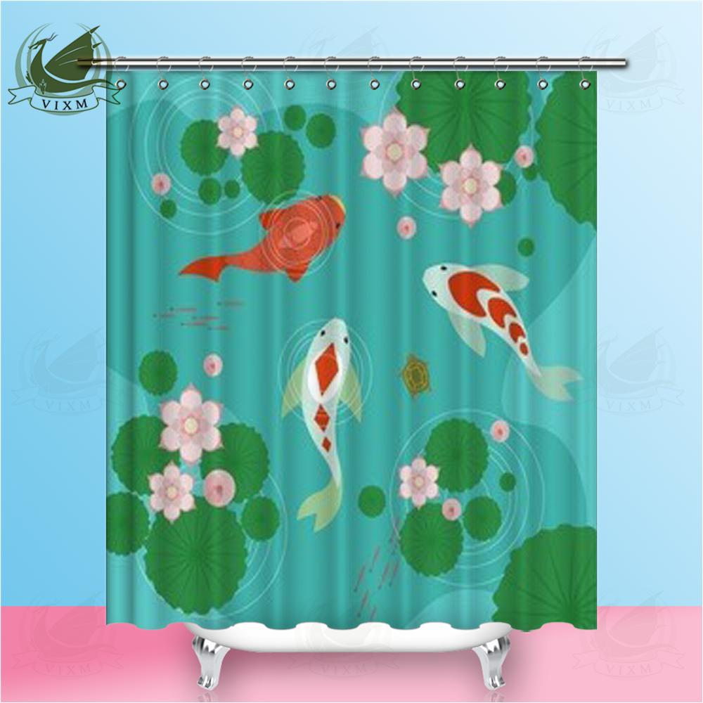 2019 Vixm Home Squid Lotus Pond Fabric Shower Curtain Frog And Cockroach Ink Painting Bath For Bathroom With Hook Rings 72 X From Bestory