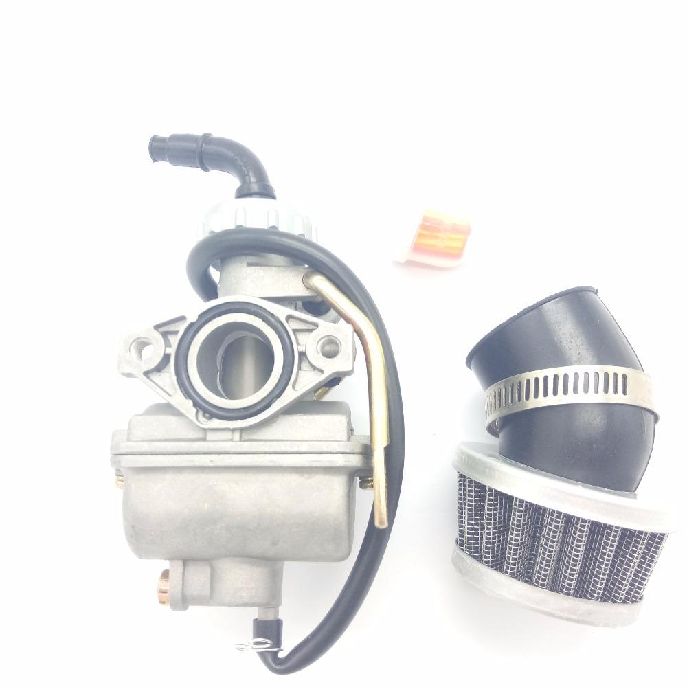 Carburetor & Air Filter For ATV 20mm Intake PZ20 TaoTao NST SunL Kazuma  Baja 50cc~125cc