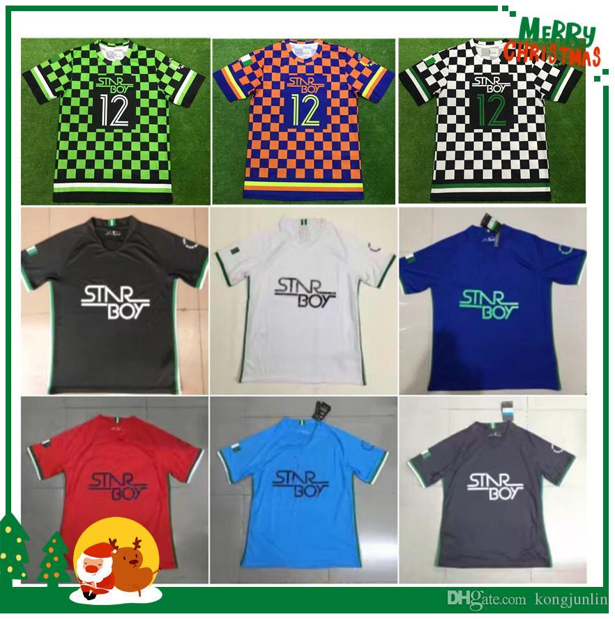 2018 Nigeria National Football Team OBI SHEHU IWOBI Soccer Jersey STARBOY  Okechukwu Dayo Ojo Osas Okoro Football Shirts Online with  17.76 Piece on  ... 4efae320aa170