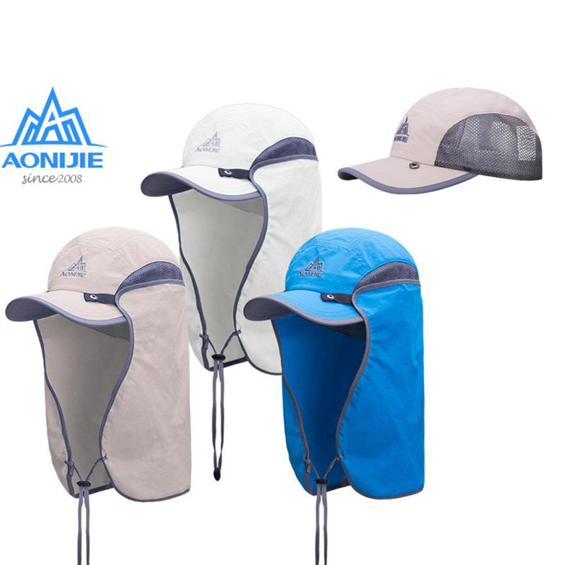 196dd18db AONIJIE Summer Sun Hat UV Protection Men Women Hiking Cap with Removable  Neck and Face Flap for Cycling Camping Climbing Fishing