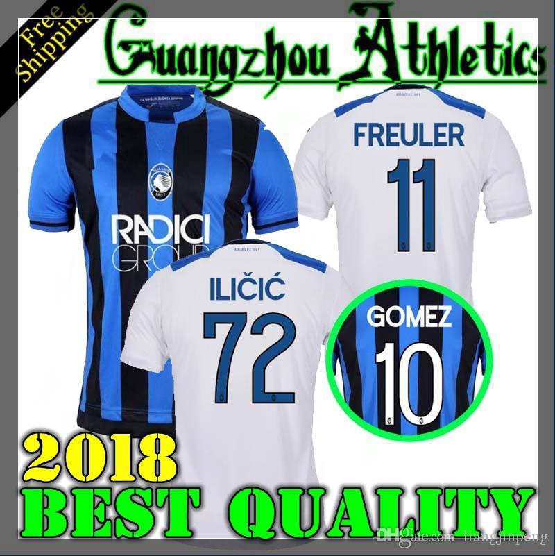 Compre Top 18 19 Atalanta B.C. Camisas De Futebol De Home Ausado Adultos  2018 2019 Camisa De Futebol Cornelius 9 Cristante 4 Gomez 10 Gosens 8  Jersey De ... a6159e42898c2