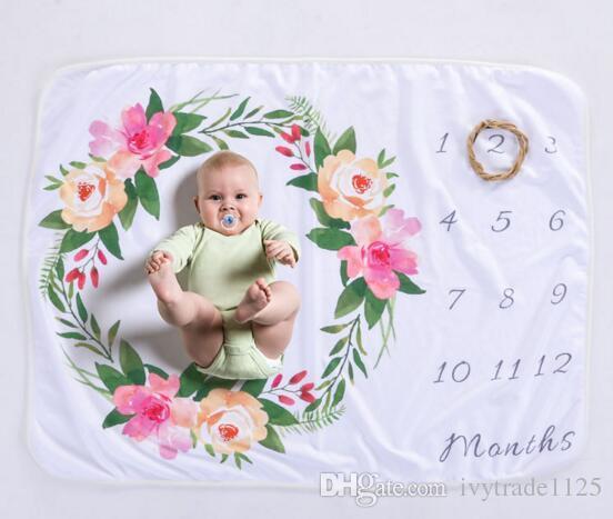 8 estilos infantil bebé fotografía fondo conmemoración mantas accesorios fotográficos letras flor animales fotográficos manta de lana