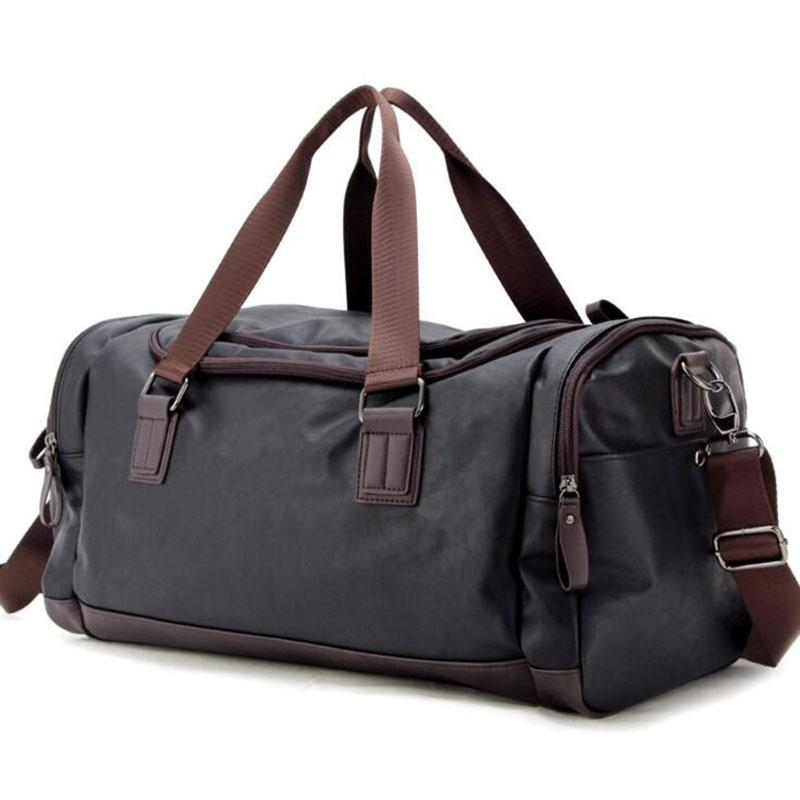 8992710f4 NIUBEI Large Man PU Leather Travel Bags Luggage Casual Male Single ...