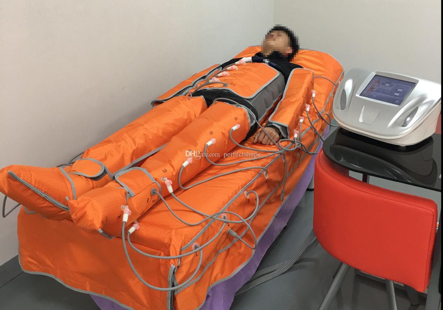 Neuestes Pressotherapy-Gerät-Lymphdrainage-Fett lösen den Cellulite-Abbau auf, der Maschine mit weitem Infrarot abnimmt