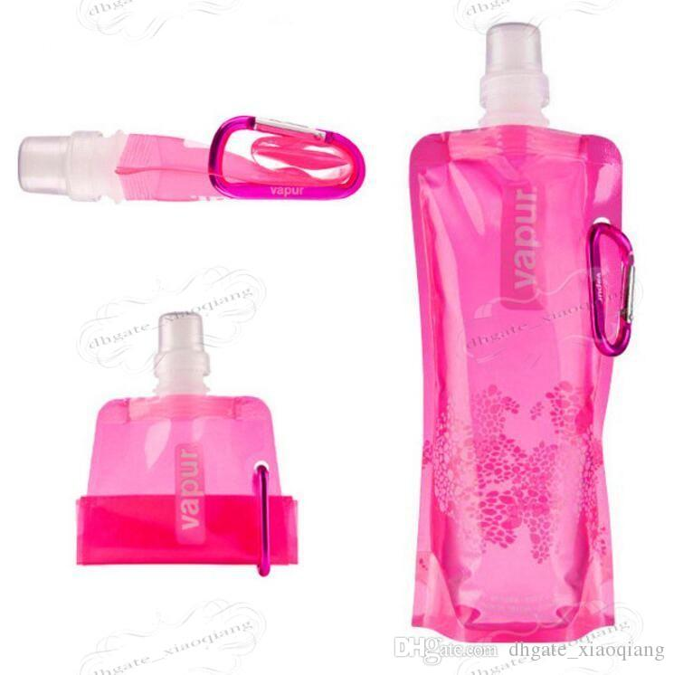 Wholesale Water Bottle Comes Flat Foldable Water Bottle Collapsible 0.48 Litres Anti-Bottle