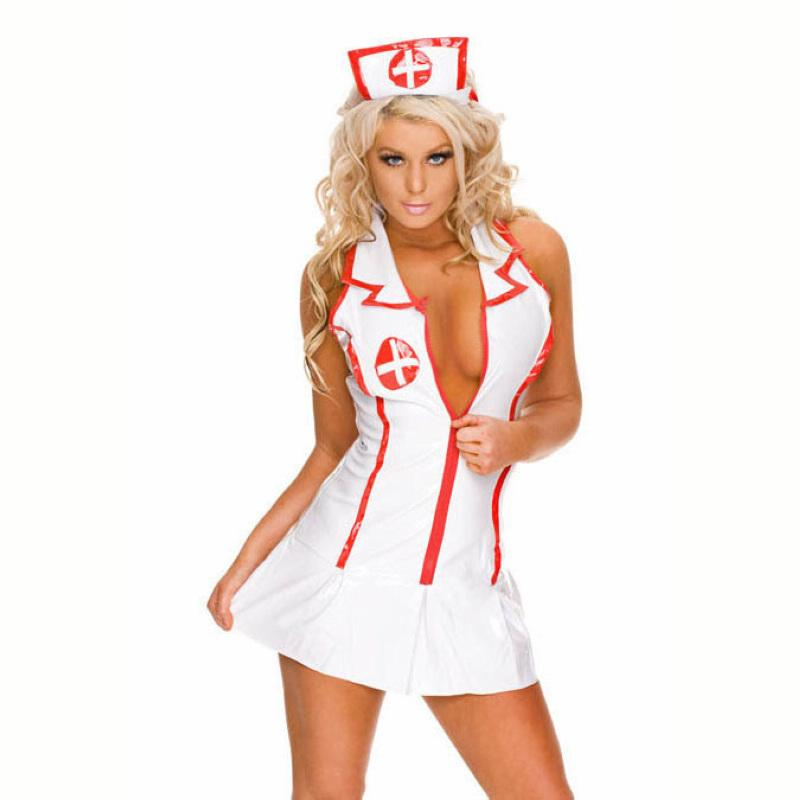 e53dfbba30 Sexy Lingerie Roleplay Fancy Hot Bedroom Nurse Costume Nurse Outfit ...