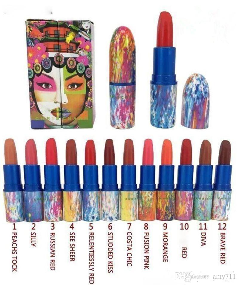 hot selling 2018 new arrive makeup original edition chris chang matte lipstick high quaility DHL shipping +gift