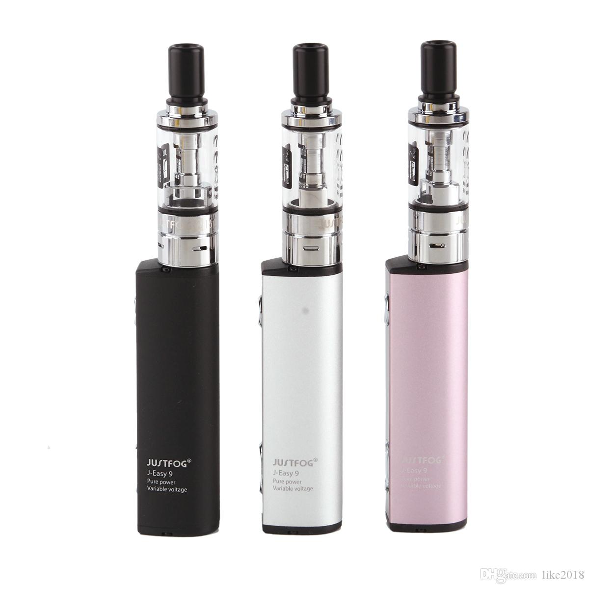 Authentique Kit de démarrage Justfog Q16 / Q16C mis à niveau Q16 900mAh Tension variable J-Easy 9 Batterie 1.9ml Clearomizer à l'épreuve des enfants