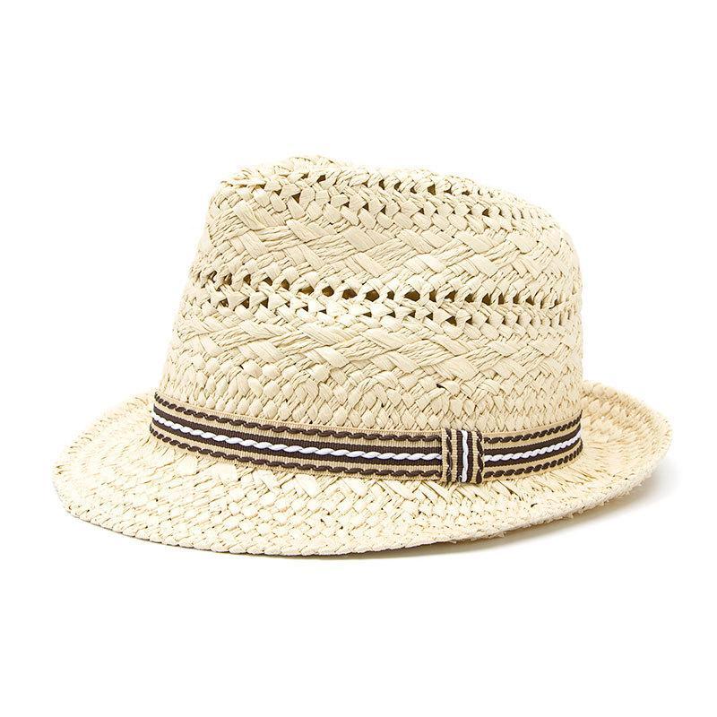 Compre Sombrero De Paja Para Niños Sombrero De Jazz Británico Para Niños  Verano Para Niños Gorro De Playa Para Niños Gorra De Sol Para Niños A   21.26 Del ... 77d364c0336