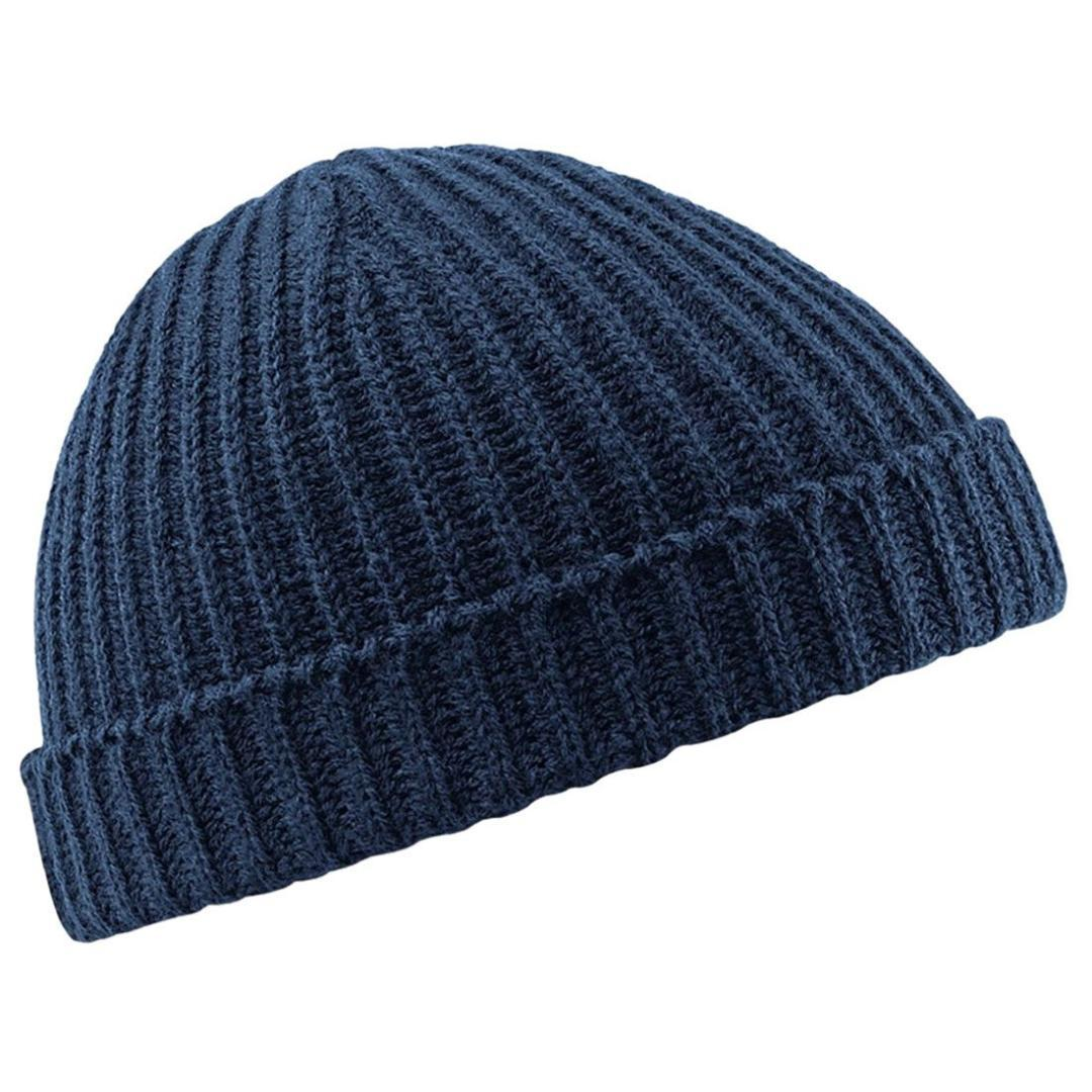 2019 Fisherman Beanie Ribbed Hat Winter Warm Turn Up Retro Mens