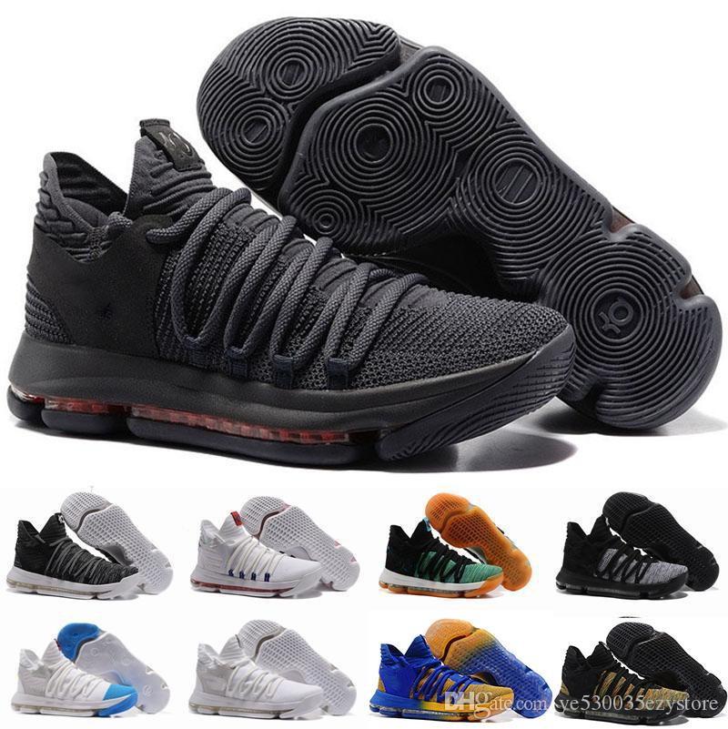 cheaper 833fa 93a93 2019 2018 New Zoom KD 10 Anniversary PE BHM Oreo Triple Black Men  Basketball Shoes KD 10 Elite Low Kevin Durant Athletic Sport Sneakers 01  From ...