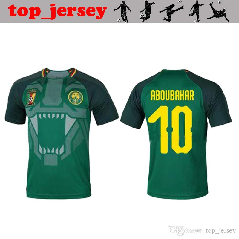 0fd92d9c2 NEW 2018 world cup Cameroon Soccer Jersey thai quality ABOUBAKAR Home green  Vincent Aboubakar Cameroun national team men football shirt