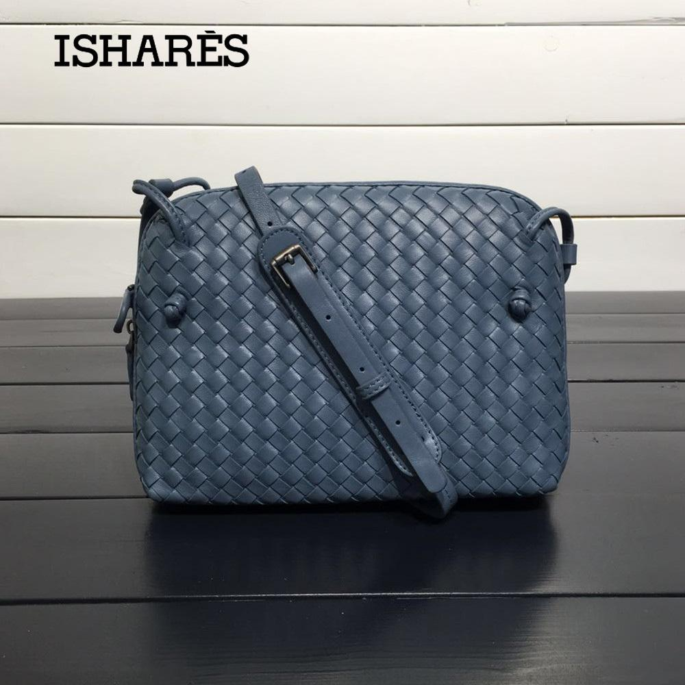 ISHARES Sheepskin Woven Luxury Crossbody Bags Women Girls Messenger  Handmade Designer Top Quality Lambskin Bags Fashion IS324123 Y18102204  Ladies Purses ... e4460c285d